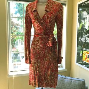 Vintage DVF Printed Silk Dress